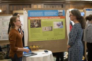Anne Moser at the poster session