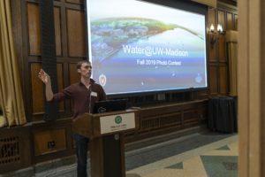 David Koser gives a presentation