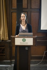 Dr. Remucal giving a presentation