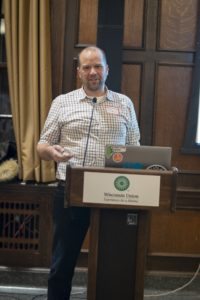Dr. Ginder-Vogal giving a presentation